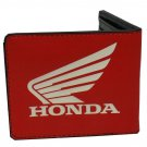 Honda Wing Logo Motorcycle Car Red Bi-Fold Wallet