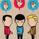 """Paper, Scissors, Rock"" Space TV Parody - Plywood Wood Print Poster Wall Art"
