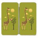 """Painting Smiley"" Giraffe Artist Sun Artwork - Womens Taiga Hinge Wallet Clutch"