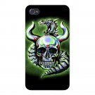 Metallic Dragon w/ Skull & Horns - FITS iPhone 4 4s Plastic Snap On Case