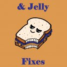 Peanut Butter & Jelly Fixes Everything Food - Rectangle Refrigerator Magnet