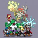 "Video Game Parody ""The Plungers"" Comic Super Hero Crew Movie - Vinyl Sticker"