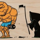 """Mission Failed"" Super Hero & Reaper Parody - Plywood Wood Print Poster Wall Art"