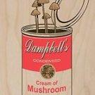 """Original"" Dampbell's Soup Mushrooms Parody - Plywood Wood Print Poster Wall Art"
