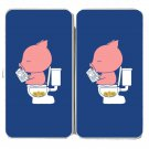 """""""Cha Ching"""" Pig Pooping Coins in Toilet Funny - Womens Taiga Hinge Wallet Clutch"""