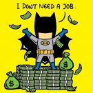 """Part-Time Job No Job"" Rich Funny Comic Parody - Rectangle Refrigerator Magnet"