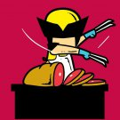 """Part-Time Job Meat Shop"" Funny Comic Parody - Rectangle Refrigerator Magnet"