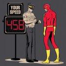"""Speed Trap"" Super Hero Speeding Parody - Plywood Wood Print Poster Wall Art"