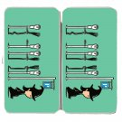 """""""Parking"""" Witch Broomstick Park Meters Funny - Womens Taiga Hinge Wallet Clutch"""