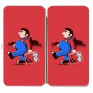 """Behind The Scene"" Plumber Video Game Parody - Womens Taiga Hinge Wallet Clutch"