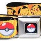 Pokemon Seatbelt Belt - Pikachu & Poke Ball Bullseye Yellow Rays