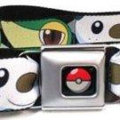 Pokemon Seatbelt Belt - Pokemon Faces Black 2