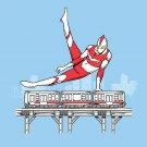 """Tokyo Pommel Horse"" Super Hero & Train Gymnastics Humor Parody - Vinyl Sticker"