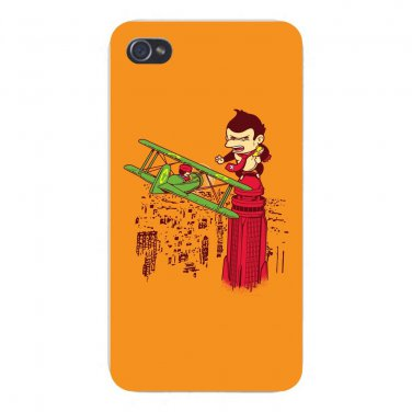 """Save The Princess"" Plumber Game Parody - FITS iPhone 5 5s Plastic Snap On Case"