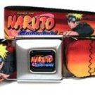 Naruto Seatbelt Belt - Naruto 6-Poses w/ Logo Red/Orange.
