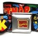 Marvel The Avengers Seatbelt Belt - Marvel Characters Stacked w/ Character Logo