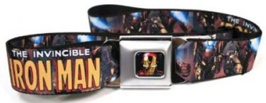Marvel Iron Man Seatbelt Belt - THE INVINCIBLE IRON MAN Action Pose