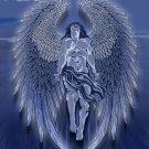 Winged Man Angel Blue Design Artwork - Vinyl Print Poster