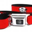 Mac Miller Seatbelt Belt - THUMBS UP! Orange/White