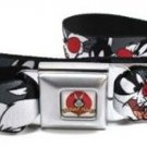 Looney Toons Seatbelt Belt - Sylvester the Cat Expressions Gray