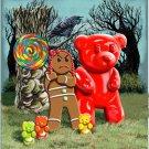 Gingerbread Girl w/ Gummy Bears, Crow, & Lollipop Artwork - Vinyl Print Poster