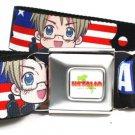 Hetalia Axis Powers Seatbelt Belt - America USA American Flag Stars & Stripes