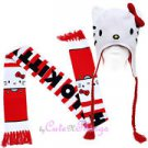 Hello Kitty Seatbelt Belt - Christmas Holidays w/ Candy Canes & Snowflakes
