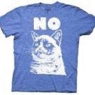 Grumpy Cat Seatbelt Belt - Mood Blocks Blue, White, Red Web