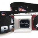 Elvis Presley Seatbelt Belt - Through the Years w/ Stars Black/Silver