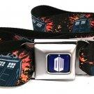 Doctor Who Tardis Explosion Black - Seatbelt Belt