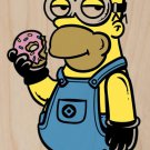 """Simpion"" Movie & Show Parody w/ Donut - Plywood Wood Print Poster Wall Art"