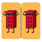 """Six Pack"" Children's Toy Block Flexing Funny - Womens Taiga Hinge Wallet Clutch"
