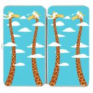 """Cloudy Day"" Funny Giraffes Clouds Long Necks - Womens Taiga Hinge Wallet Clutch"