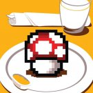 """Nutritious Breakfast"" Video Game Parody Shroom - Rectangle Refrigerator Magnet"