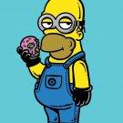 """Simpion"" Cartoon Movie & TV Show Parody Donut - Rectangle Refrigerator Magnet"