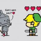 """Heart Seeker"" Classic Movie & Video Game Parody - Rectangle Refrigerator Magnet"