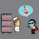 """""""Robbery"""" Vampire Stealing Blood Donation Bank Stick Up Funny - Vinyl Sticker"""