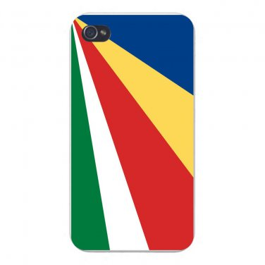 Seychelles World Country National Flag - FITS iPhone 5 5s Plastic Snap On Case