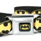 DC Comics Batman Seatbelt Belt - Bat Signal Blue/Yellow/Black