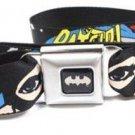 DC Comics Batman Seatbelt Belt - BATGIRL Face Stars Black/White