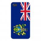 Pitcairn Islands World Country Flag - FITS iPhone 4 4s Plastic Snap On Case