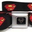 DC Comics Superman Seatbelt Belt - Superman Shield Black
