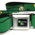 Breaking Bad Vamanos Pest Green Seatbelt Belt