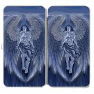 Winged Man Angel Blue Design Artwork - Womens Taiga Hinge Wallet Clutch