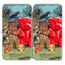 Gingerbread Girl, Gummy Bears, Crow, Lollipop - Womens Taiga Hinge Wallet Clutch