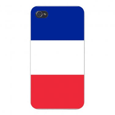 France World Country National Flag - FITS iPhone 4 4s Plastic Snap On Case