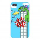 """""""My World"""" Japanese Giant Green Lizard - FITS iPhone 4 4s Plastic Snap On Case"""