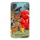 Gingerbread Girl, Gummy Bears, Lollipop - FITS iPhone 4 4s Plastic Snap On Case