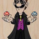 Plumbtrix Long Coat Guy Game & Movie Parody - Plywood Wood Print Poster Wall Art