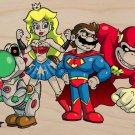 Plumbers League of America Superhero Parody - Plywood Wood Print Poster Wall Art